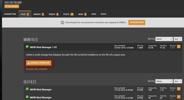 【MHW】Mod管理に必須ツール「MHW Mod Manager」の導入方法1