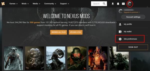 nexusmods設定1