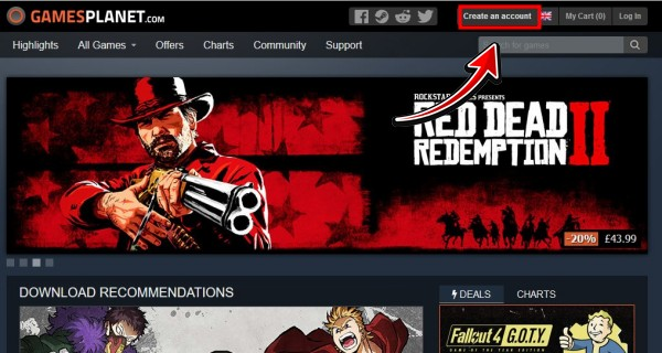 PCゲームキー販売サイト「Gamesplanet」の登録や買い方を図解入りで解説1