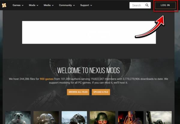 nexusmods登録ステップ1