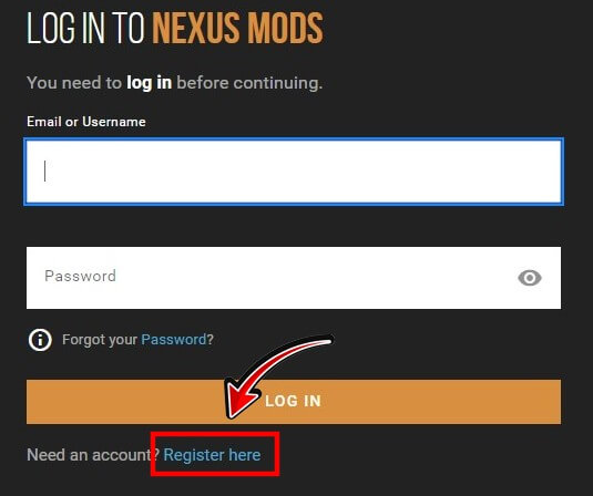 nexusmods登録ステップ2
