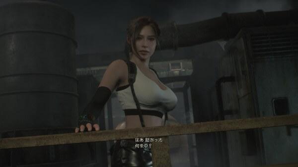 バイオハザード RE:2 クレアコスチュームMod Tifa Final Fantasy5