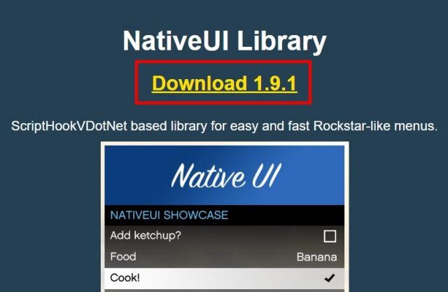 NativeUIダウンロード