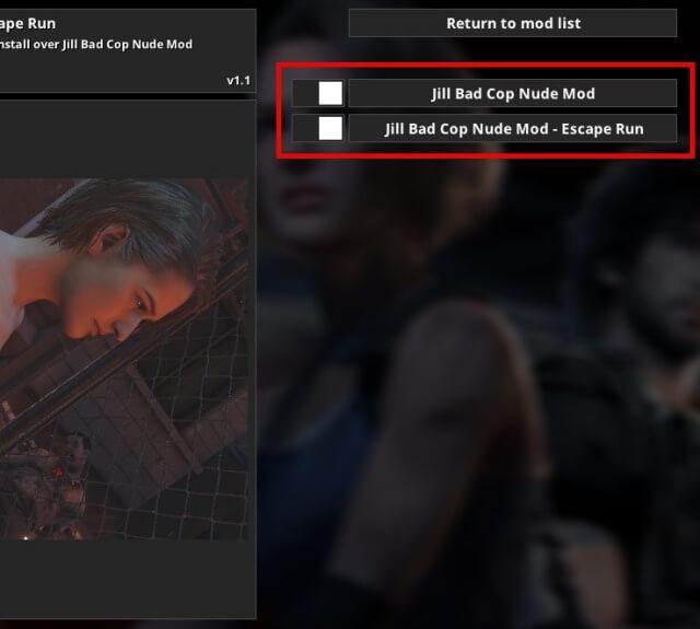 【RE:3】ジルをバッドコップへ変更するMod(ヌード、手錠)Mod反映方法ヌード