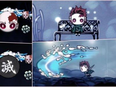 【ホロウナイト】炭治郎Modで見た目を鬼滅の刃の竈門炭治郎に変更する方法